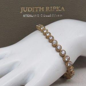 JUDITH RIPKA 925 Vermeil CZ Tennis Bracelet
